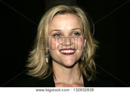 Reese Witherspoon at the American Cinematheque presents an in-person tribute to Reese Witherspoon held at the Egyptian Lloyd E. Rigler Theatre in Hollywood, USA on December 3, 2004.