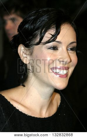 Alyssa Milano at the Los Angeles premiere of 'Ray' held at the Cinerama Dome in Hollywood, USA on October 19, 2004.