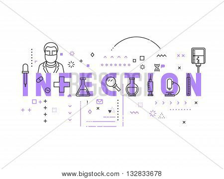 Medicine concept infection. Creative design elements for websites, mobile apps and printed materials. Medicine banner design