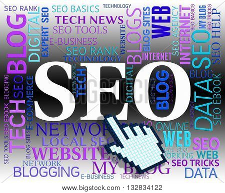 Seo Word Shows Search Engines And Net
