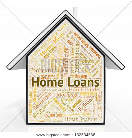 Home Loans Shows Credit Funding And Lends