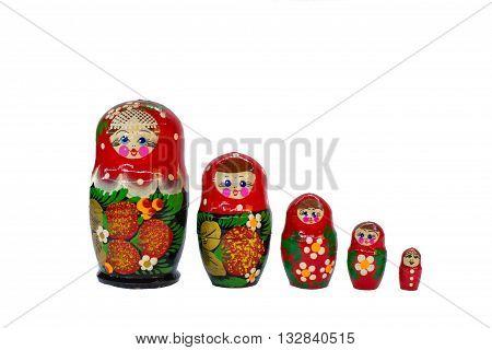 Russian Matryoshka Wooden Dolls Souvenirs
