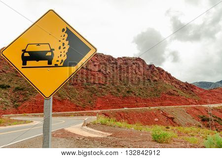 Road in Cuesta de Miranda (Slope of Miranda) in province of La Rioja, Argentina