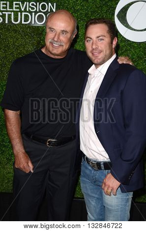 LOS ANGELES - JUN 2:  Phil McGraw, Jay McGraw at the 4th Annual CBS Television Studios Summer Soiree at the Palihouse on June 2, 2016 in West Hollywood, CA