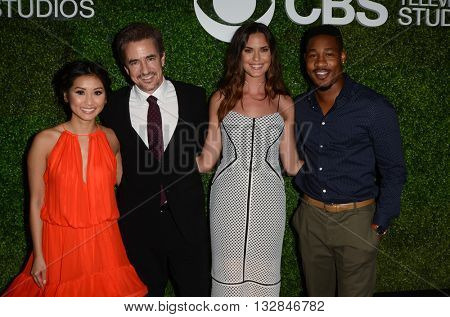 LOS ANGELES - JUN 2:  Benda Song, Dermot Mulroney, Odette Annable, Aaron Jennings at the 4th Annual CBS Television Studios Summer Soiree at the Palihouse on June 2, 2016 in West Hollywood, CA