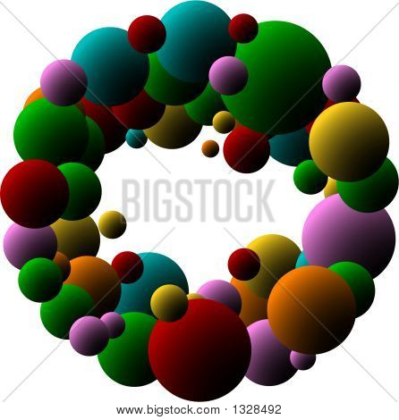 Abstract Bubbles With Place For Text, Scalable, Editable Colors - Vector Illustration