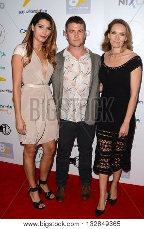 LOS ANGELES - JUN 1:  Guest, Luke Hemsworth, Samantha Hemsworth at the 2016 Australians In Film Heath Ledger Scholarship Dinner at the Mr. C on June 1, 2016 in Beverly Hills, CA