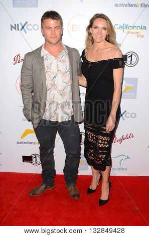 LOS ANGELES - JUN 1:  Luke Hemsworth, Samantha Hemsworth at the 2016 Australians In Film Heath Ledger Scholarship Dinner at the Mr. C on June 1, 2016 in Beverly Hills, CA