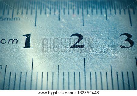 a part of ruler macro close up