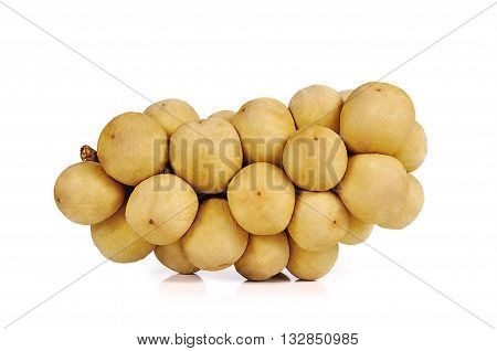 Thai Fruits Close Up Isolated On White Background