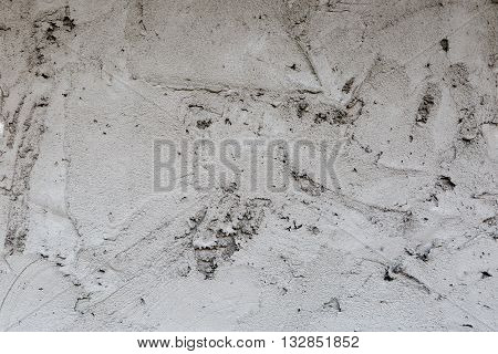 Plaster Concrete On Wall Of House Construction