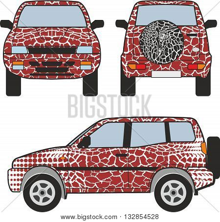 car s backgrounds giraffe skin passes into abstract