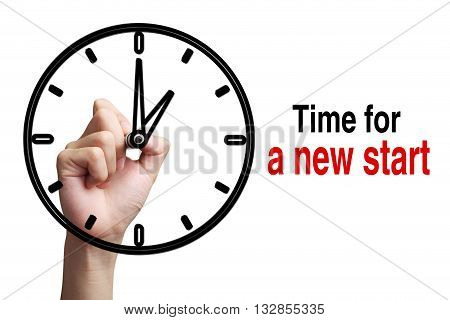 Time For A New Start Concept