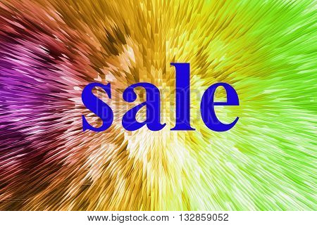 The Word Sale On A Color Background Graphic Extrusion, For Sales And Discount Shopping,