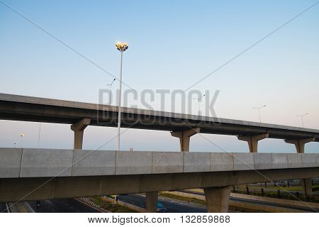 Overpass transportation modern concrete background and wallpaper
