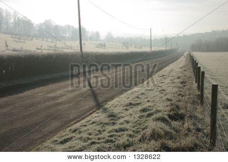 Misty Monring On A Rural Road
