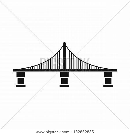 Bridge icon in simple style isolated on white background