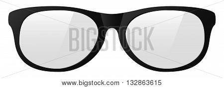 vector yellow eyeglasses with the light shine protect before poor eyesight