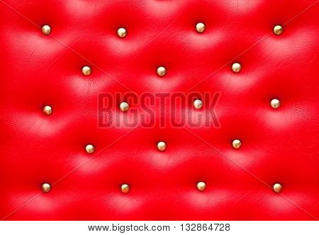 Red leather pattern with knobsTexture for Background