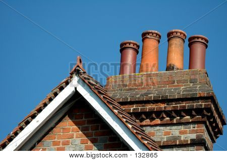 English Roof With Chimneys