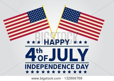 Happy Independence Day Background Template. Happy 4Th Of July Poster. Happy 4Th Of July And American