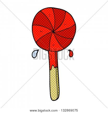freehand drawn cartoon lollipop