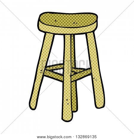 freehand drawn cartoon stool