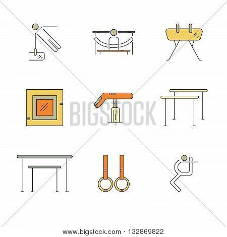 Icons With Gymnastics Symbols