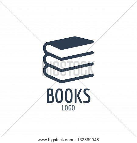 Books icon sign. Icon or logo design with three books
