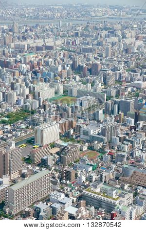 Japan Tokyo Cityscape Building, Road Aerial View