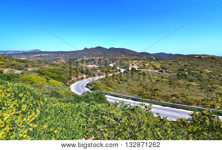 landscape of Sounion in Attica Greece - greek famous places for vacation