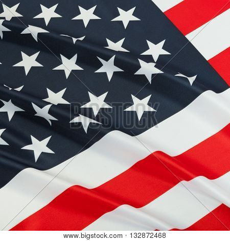 Series Of Ruffled National Flags - United States Of America