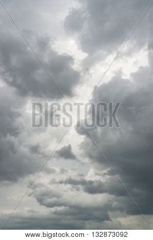 full frame shot of a clouded stormy sky