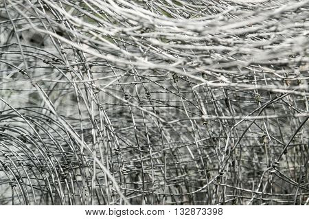 a full frame entangled mesh wire background