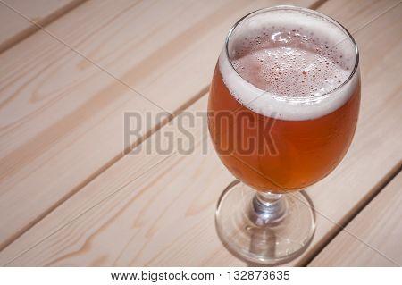 Amber Ale On Wood