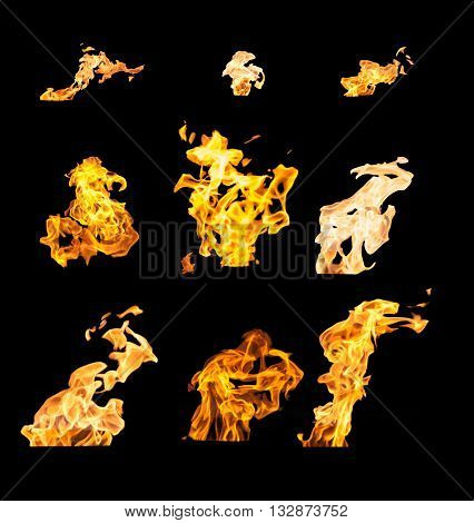 High Resolution Fire Collection Isolated