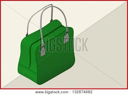 bag isometric flat vector 3d illustration. lady's handbag isolated on white background.