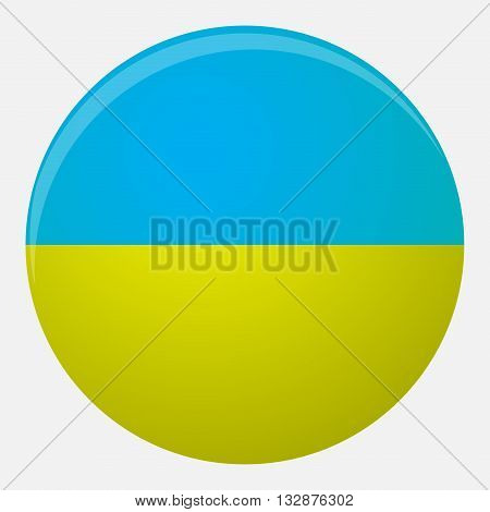 Ukraine flag icon flat. National symbol illustration country vector nation patriotism