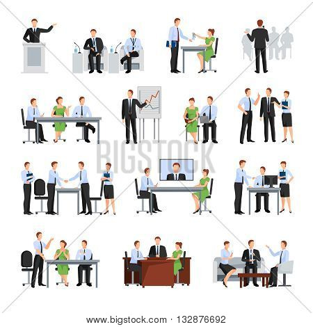 Business Conference  Elements Collection. Business Conference Vector Illustration. Business Conference Decorative Set.  Business Conference Concept Set.Business Conference Flat Isolated Set.
