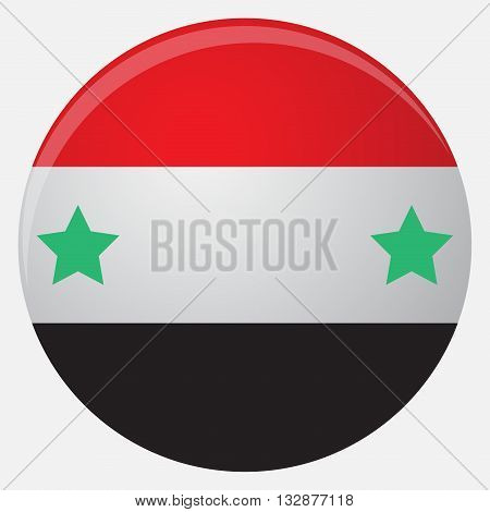 Syria flag icon flat. National country sign illustration official vector
