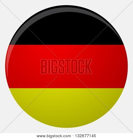 Germany flag icon flat. National flag germany illustration vector country of symbol
