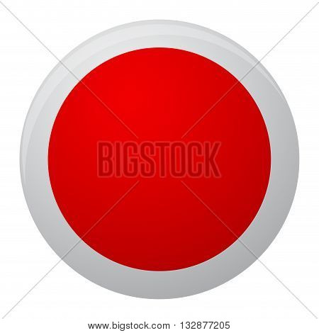Japan flag icon flat. Japan country of symbol illustration flag design to form round. National sign vector