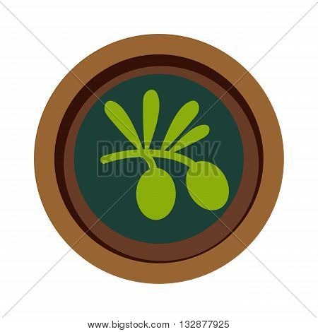 Green leaf vegan soup vector on white background, top view. Vegetarian green soup plate. Vegan natural soup concept, no meat