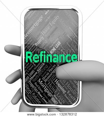 Refinance Online Means Web Site And Debt 3D Rendering
