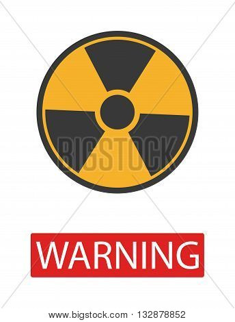 Danger radiation warning hazard symbols. Big set danger radiation sign vector illustrator. Danger radiation sign safety warning collection risk stop danger sign. Security toxic yellow triangle sign.