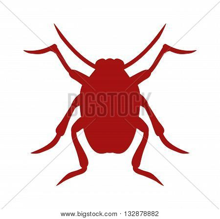 Beetle bug icon isolated on white background wildlife animal vector bug icon. Nature beetle bug and zoology beetle icon. Wildlife insect beetle silhouette icon.