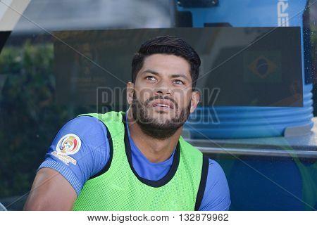 Brazilian Soccer Hulk During Copa America Centenario