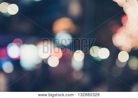 Defocused bokeh in city light lifestyle at night