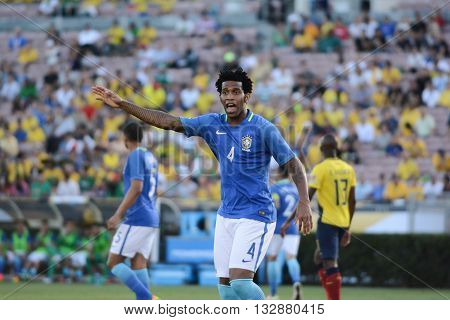 Gilberto Silva Brazilian Soccer During Copa America Centenario