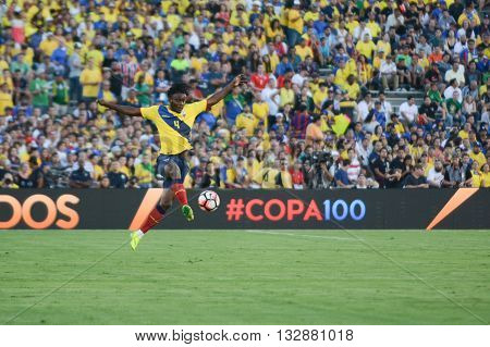 Ecuatorian Soccer Juan Carlos Paredes Up In The Air During Copa America Centenario